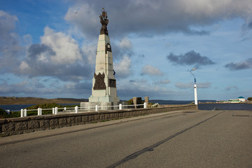Memorial to the WW1 Battle of the Falklands