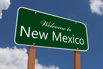 Welcome to New Mexico Road Sign