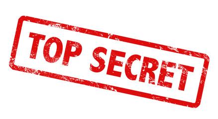 Stempel Grunge Top secret rot geheim