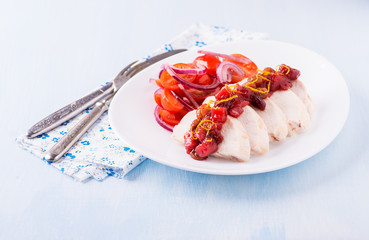 Chicken fillet with cranberry relish