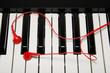 Pianoforte con le cuffie - 79351831