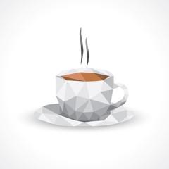 Low poly-tasse à café