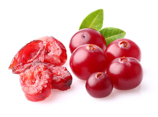 Fresh and dried cranberry