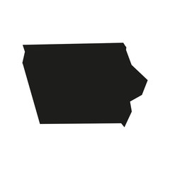Alabama Minimal concept of the geographical map of the american