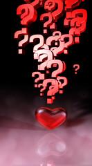 Herz Fragezeichen Explosion D.