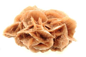 desert rose mineral isolated