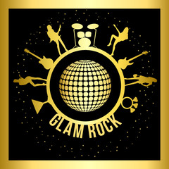 GlamRock  Gold Round