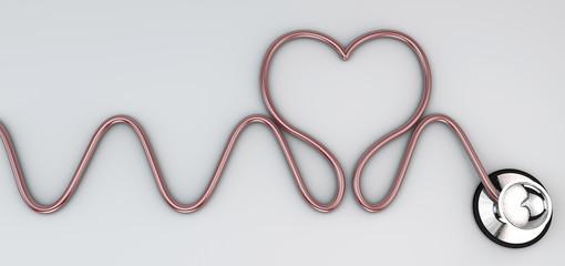 Stetoscopio, strumento auscultazione cardiaca