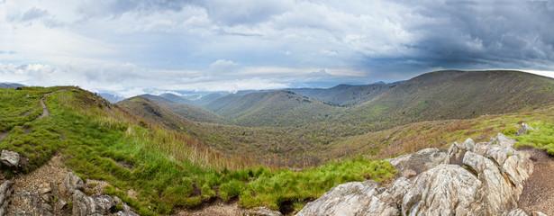 rainy mountain panorama
