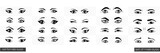 Set of female and male views of the eye - 79355086