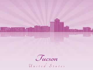 Tucson skyline in purple radiant orchid
