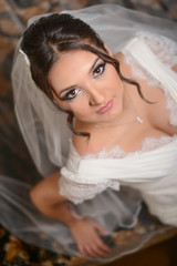 beautiful young bride on her wedding day