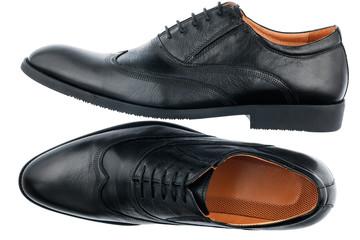 Classic men's black shoes