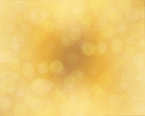 Golden abstract background with bubbles