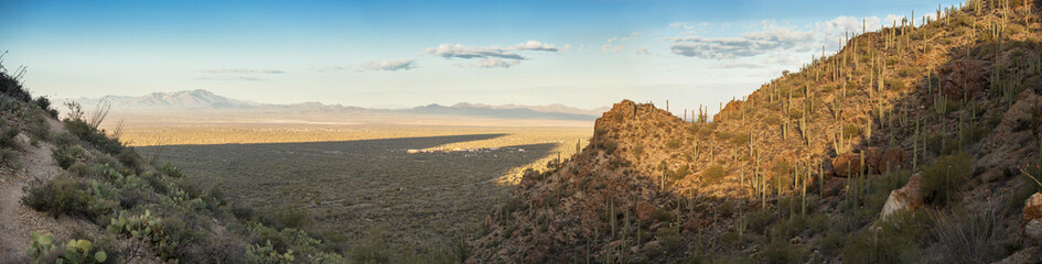 180 degree pano of desert in arizona