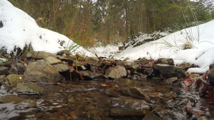 4k, The snow melts, the creek flows