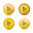 Orange Play button set. vector illustration