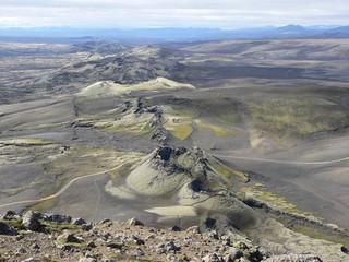 Islande Le Lakagigar Vue sur la faille
