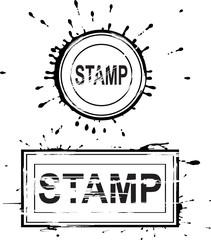 Set of grunge distressed stamps. Vector illustration