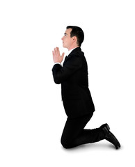 Business man pray position
