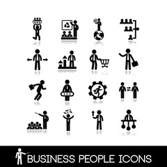 Business people icons set 3.
