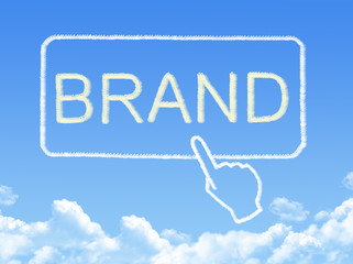 brand message cloud shape