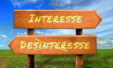 Strassenschild 33 - Interesse