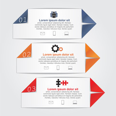 Infographics with paper arrows. Vector illustration