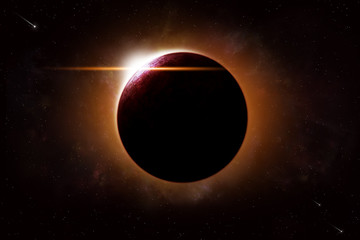 Planet Eclipse Space Background