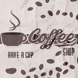Vector illustration of a retro vintage coffee shop brochure