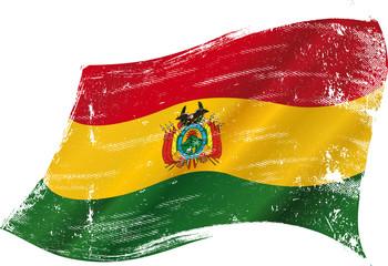 Bolivian grunge flag