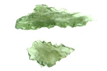 green moldavite minerals