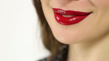 Red lips smile