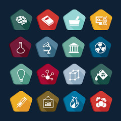 Science icons set 25.