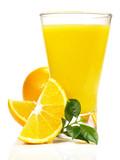 Fototapeta Orangensaft - Früchte