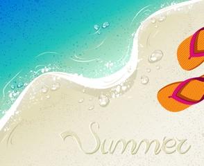 Flip flops Summer time holiday background