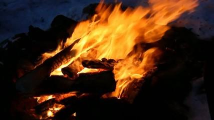 Un feu de bois