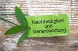 Nachhaltigkeit und Verantwortung - Label