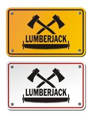 lumberjack rectangle signs