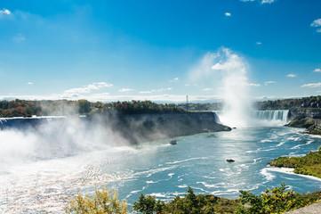 cruise boats  nearby the Niagara falls