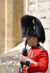 The Guardsman at the Buckingham Palace in London