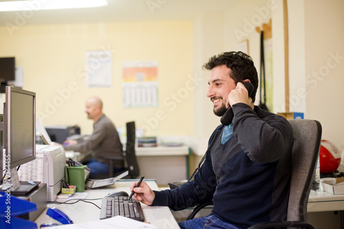 Hipster clerk - 79364455