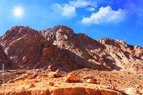 In de dag Egypte Mount Moses in Sinai, Egypt