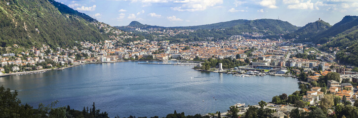 Como: five photo for city panorama from the lake