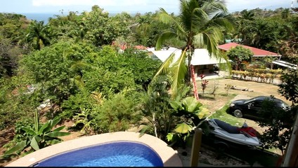 Tropical vegetation beside village in Costa Rica