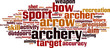 Archery word cloud concept. Vector illustration - 79366215