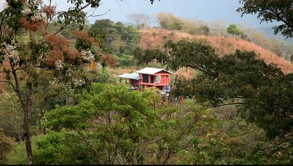 Lonely house in Costa Rica, dry season