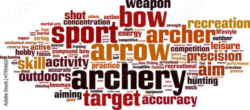 Archery word cloud concept. Vector illustration - 79366215