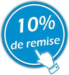 bouton 10% de remise