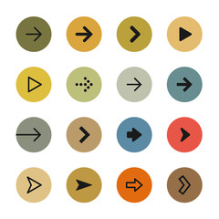 Colorful arrows icon set
